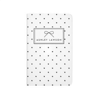 Small Polka Dots Pattern Personalized Journal