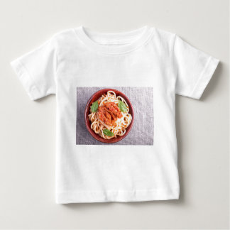 Small portion of cooked spaghetti with tomato baby T-Shirt