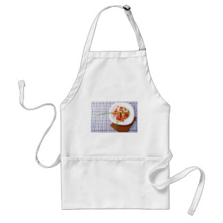 small portion of vegetarian salad standard apron
