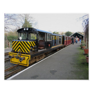 Small Poster with Diesel Train at Hythe