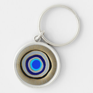 Small Premium Round Keychain/Greek Evil Eye Keychain