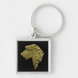 Small Premium Square Key Ring (Gold IW Head)