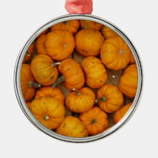 Small Pumpkins Metal Ornament
