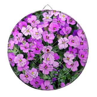 Small Purple Flowers Dartboard