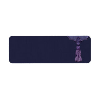 Small Purple Tassel Apothecary Label