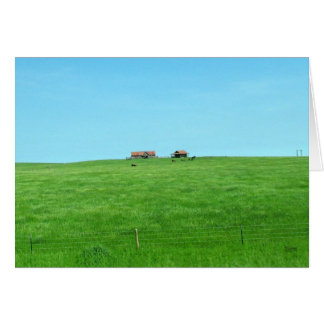 Small Ranch on a Hill Card