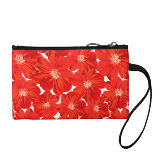 Small red flowers coin purse