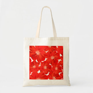 Small red flowers tote bag