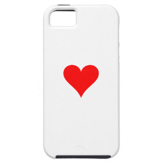 Small red heart iPhone 5 cover