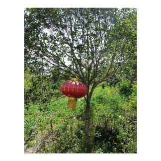 Small Red Lantern Letterhead Template