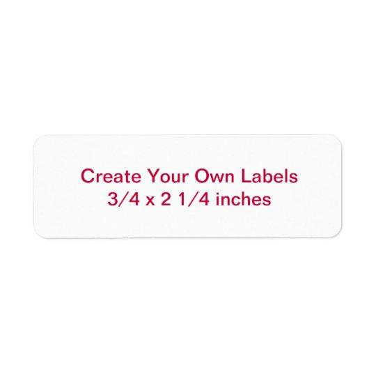 Small Return Address Size Labels