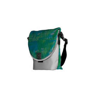 Small Rickshaw Messenger Bag Green Blue