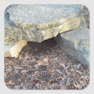 Small Rock Formation Square Sticker