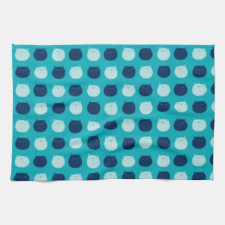 Small Round Cat Polka Dots Kitchen Towel