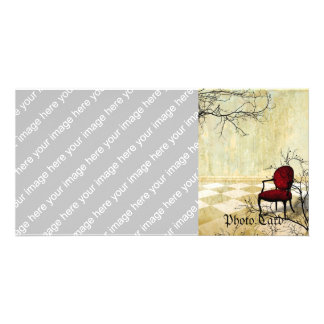 Small Royal Chair with Branches Photo Greeting Card