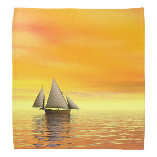 Small sailboat - 3D render Bandana
