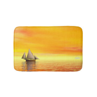 Small sailboat - 3D render Bath Mat