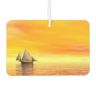 Small sailboat - 3D render Car Air Freshener