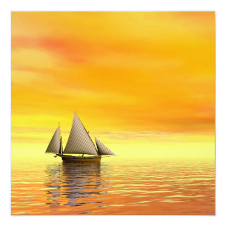 Small sailboat - 3D render Card