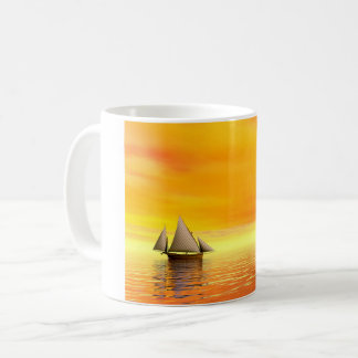 Small sailboat - 3D render Coffee Mug