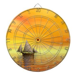 Small sailboat - 3D render Dartboard