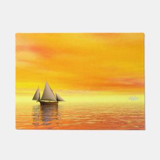 Small sailboat - 3D render Doormat