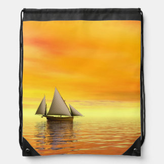 Small sailboat - 3D render Drawstring Bag