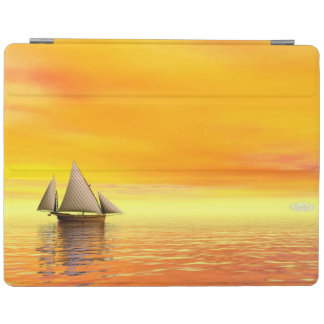 Small sailboat - 3D render iPad Cover