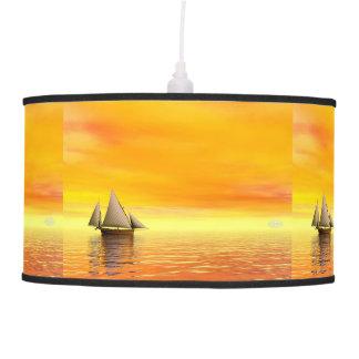 Small sailboat - 3D render Pendant Lamp