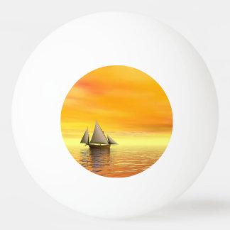 Small sailboat - 3D render Ping Pong Ball