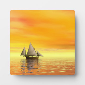 Small sailboat - 3D render Plaque