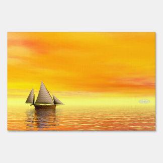 Small sailboat - 3D render Sign
