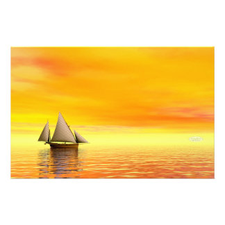 Small sailboat - 3D render Stationery