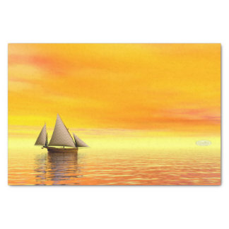 Small sailboat - 3D render Tissue Paper