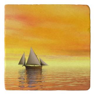 Small sailboat - 3D render Trivet