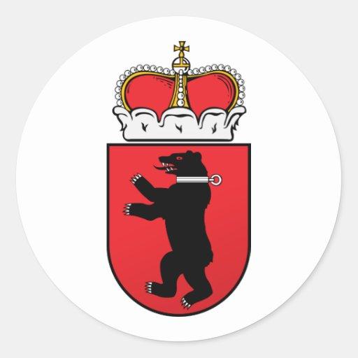 Small  Samogitia, Lithuania Round Stickers