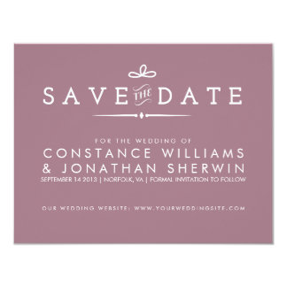 Small Save the Date in Purple Card