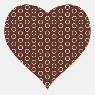 small scores retro samples scored dotted heart sticker