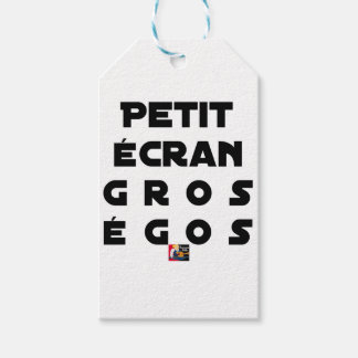Small screen, LARGE EGOS - Word games Gift Tags