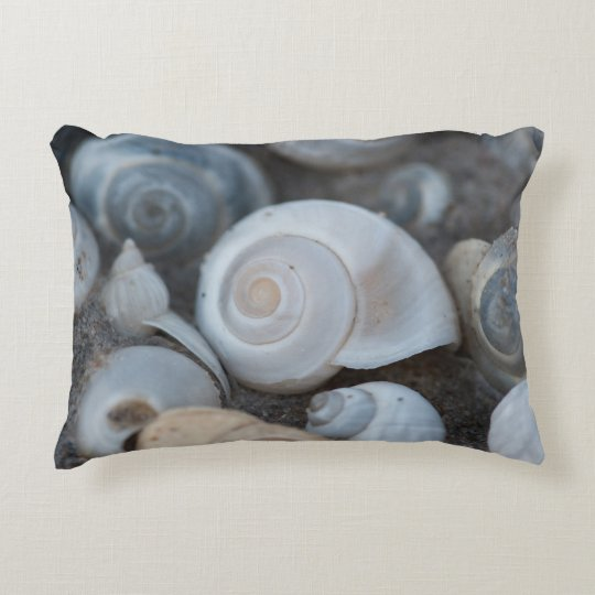 Small Seashells Accent Pillow