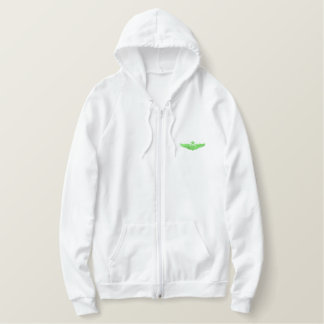 Small Senior Pilot Embroidered Hoodies