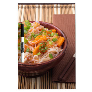 Small serving of rice vermicelli hu-teu with veget Dry-Erase whiteboards
