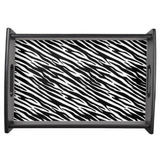 Small Serving Tray, Zebra pattern Serving Tray