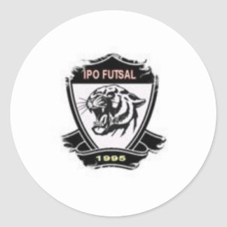 Small SHIELD extra IPO FUTSAL Classic Round Sticker
