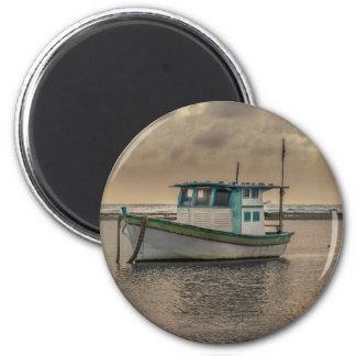 Small Ship at Ocean Porto Galinhas Brazil 2 Inch Round Magnet