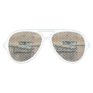 Small Ship at Ocean Porto Galinhas Brazil Aviator Sunglasses