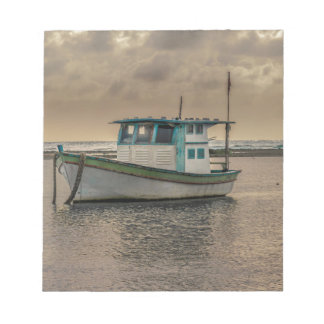 Small Ship at Ocean Porto Galinhas Brazil Notepad