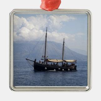 Small Ship Metal Ornament