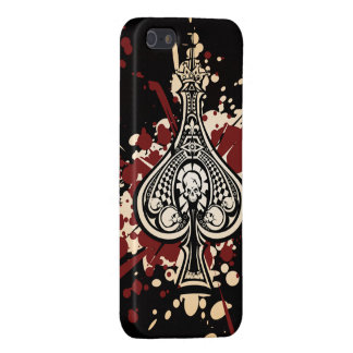 small Skull Spade Yellow Red Case For iPhone 5
