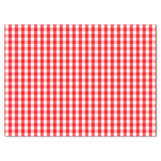Small Snow White and Christmas Red Gingham Check Tissue Paper